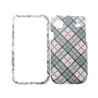For Samsung Vibrant Galaxy S T959 i9000 Case Gray Plaid Hard Cover Faceplate