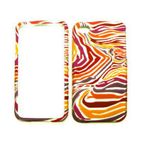 For Apple iPhone 4 4S Hard Case Red Orange Purple Zebra Print Phone Cover