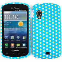 For Samsung Stratosphere i405 Protector Hard Cover Case Polka Dots Light Blue