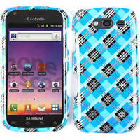 Blue & Black Plaid Protector Hard Cover Case For Samsung Galaxy S BLAZE 4G T769
