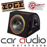 "Edge EDB12A 900 watt Active 12"" Subwoofer Sub Bass Box Enclosure &  FREE Amp Kit"