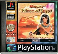 SONY PLAYSTATION 1 GAME - moses , prince of egypt  ALSO PS 2 3