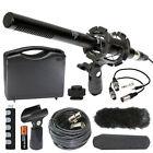 Vidpro XM-55 13-Piece 11' Condenser Video & Broadcast Shotgun Microphone Kit