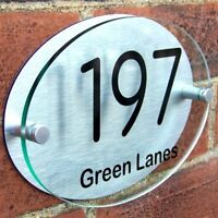 MODERN HOUSE SIGN PLAQUE DOOR NUMBER STREET A008