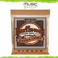 Set of Ernie Ball 2150 Studio Bronze Extra Slinky Acoustic Guitar Strings 10-50