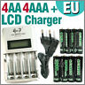 4 AA 4 AAA 1350 3000 mAh Go!Green + Quick LCD Rechargeable battery charger EU