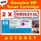 2 x Genuine HP C9703A Magenta Toner Laserjet 1500 1500L 2500 2500L 2500N 2500TN