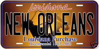 New Orleans Sax Aluminum Novelty AutoTag License Plate