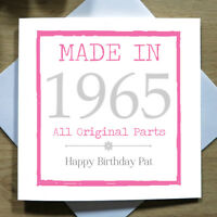Personalised Handmade Age Birthday Card Female 18th 21st 30th 40th 50th ANY YEAR