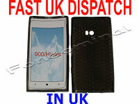For Nokia Lumia 900 Pattern Soft Gel Case Cover Protector Pouch Black New UK