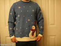 Cinnamon Cinder Christmas Sweater Snowman Large Holiday Ugly Tacky Party Contest