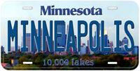Minneapolis Minnesota Novelty Car License Plate