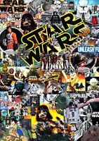 3 x Star Wars Sticker Bombing Bomb  Euro Drift Vinyl Decal vw vauxhall honda Dub