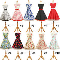 10 Styles Retro 50s Rockabilly Pinup Swing Party Wedding Prom Vintage Dress