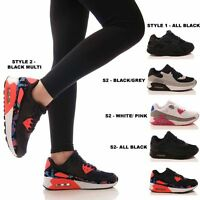LADIES WOMENS TRAINERS GYM FITNESS SPORTS RUNNING FASHION JOGGING SHOES SIZE