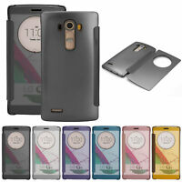 For LG G4 Case Luxury Mirror Clear View Window Slim Protective Smart Flip Cover