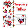 1 Sheet Temporary Tattoo Removable Red Heart Flower F1