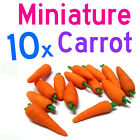 Dollhouse Miniature Vegetable Kitchen 10 x Carrots for DIY Doll Kitchen food