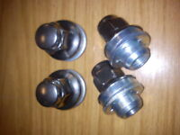 GENUINE JAGUAR Set of 4 Alloy Wheel Nuts - fits X-Type, S-Type, XJ, XF, XK
