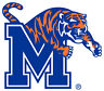 UNIVERSITY OF MEMPHIS Tigers Large Cornhole Logo Decals / Set of 2
