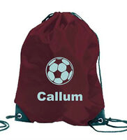 PERSONALISED FOOTBALL GAMES SPORTS PE SWIM SCHOOL GYM  BAG NAME BIRTHDAY GIFT
