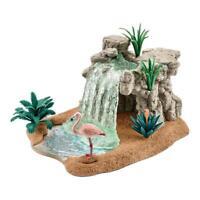 Schleich Wild Life Wasserfall Wasser Fall Wasserstelle Flamingo Spielzubehör