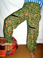INDIAN COTTON ALIBABA BAGGY GENIE HAREM PANTS BOHO HIPPIE GYPSY YOGA