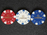 OMEGA OFFICIAL POKER CHIPS PÓQUER JETONS JAMES BOND Agent 007 Casino Royale OEM