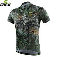 CHEJI Team Coolmax Cycling Clothing Mens Mountain Bike Bicycle Jerseys Top S-3XL