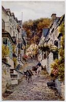 Clovelly, Devon, England Art Postcard by A R Quinton - The High Street