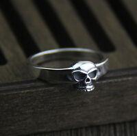 Damenring Silberringe Gothic Totenkopf Skull - 925 Sterling Silber Ring A3603