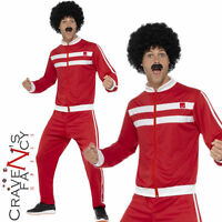 Adult 1980s Scouser Tracksuit Costume 80s Shell Suit Mens Fancy Dress Outfit New