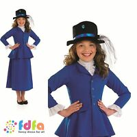 VICTORIAN MARY POPPINS POSH NANNY BOOK WEEK 4-12 child girls fancy dress costume
