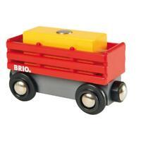 BRIO Heuwagen mit Heuballen 2-tlg. Holzeisenbahn Eisenbahn Holzspielzeug Holz