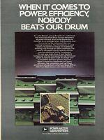 1982 John Deere Dura Drum Power Mizer Combine Farm Tractor Print Ad