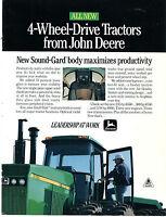 1989 John Deere 8760 Farm Tractor Print Ad