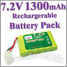 7.2V 1300mAh Ni-MH Rechargeable Battery Pack For RC Car Tamiya Connector Plug
