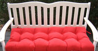 """Tufted Indoor Outdoor Swing Bench Cushion - 38"""" X 18"""" - Choose Solid Colors"""