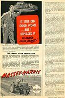 1945 Massey Harris Power Plus Farm Tractor Print Ad