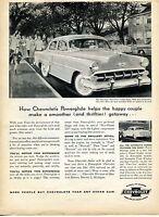1954 Chevy Chevrolet Two Ten 4 Door Sedan Car Print Ad