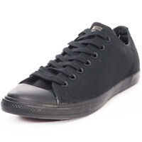 Converse Chuck Taylor All Star Lean Ox Mens Trainers Black Black New Shoes