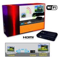 TRASMETTITORE WIFI SEGNALE VGA-HDMI PC2TV NOTEBOOK A> TV LCD HD FULL LED LCD