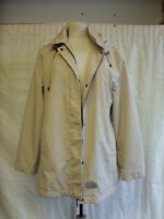Ladies jacket - Bon Marche, size 16, beige, hooded, showerproof, used - 7444