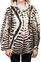 Moncler Tumpe Gamme Rouge Animal Print Jacket Women's