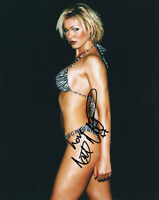 NELL McANDREW Signed 10x8 Photo TOPLESS Glamour MODEL COA