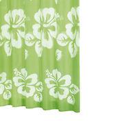 RIDDER Duschvorhang Textil 180 x 200 cm Flowerpower grün, inkl. Ringe