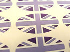 VIOLA bandiera union jack ovale sigillare Etichette, Adesivi per carta da regalo