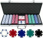 500 pcs ct 11.5g Dice Poker Clay Chips Set Casino with Aluminum Case Free Ship