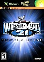 WWE WrestleMania 21   (Microsoft Xbox, 2005)   Black Label   Fast Shipping !