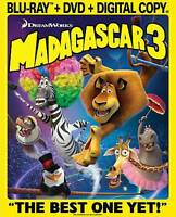 Madagascar 3: Europes Most Wanted (Blu-ray/DVD, 2012, 2-Disc Set)